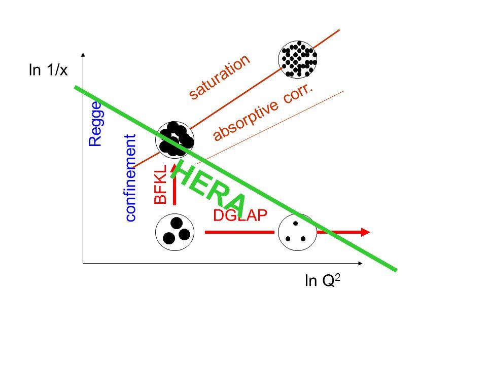 Regge confinement BFKL DGLAP ln Q 2 ln 1/x saturation absorptive corr. HERA
