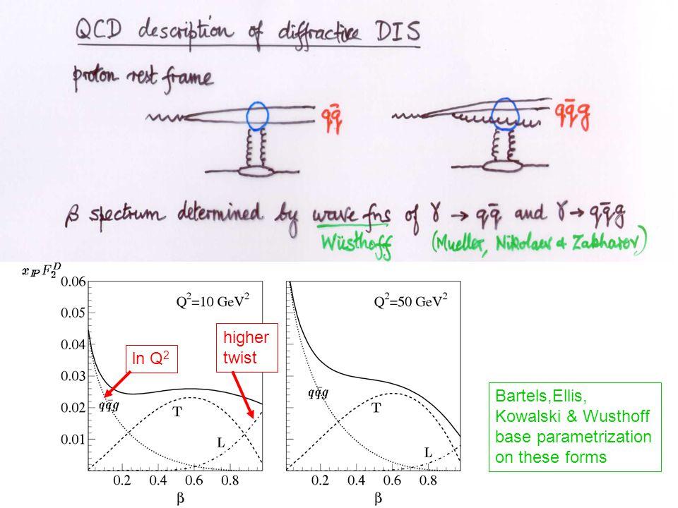 ln Q 2 higher twist Bartels,Ellis, Kowalski & Wusthoff base parametrization on these forms