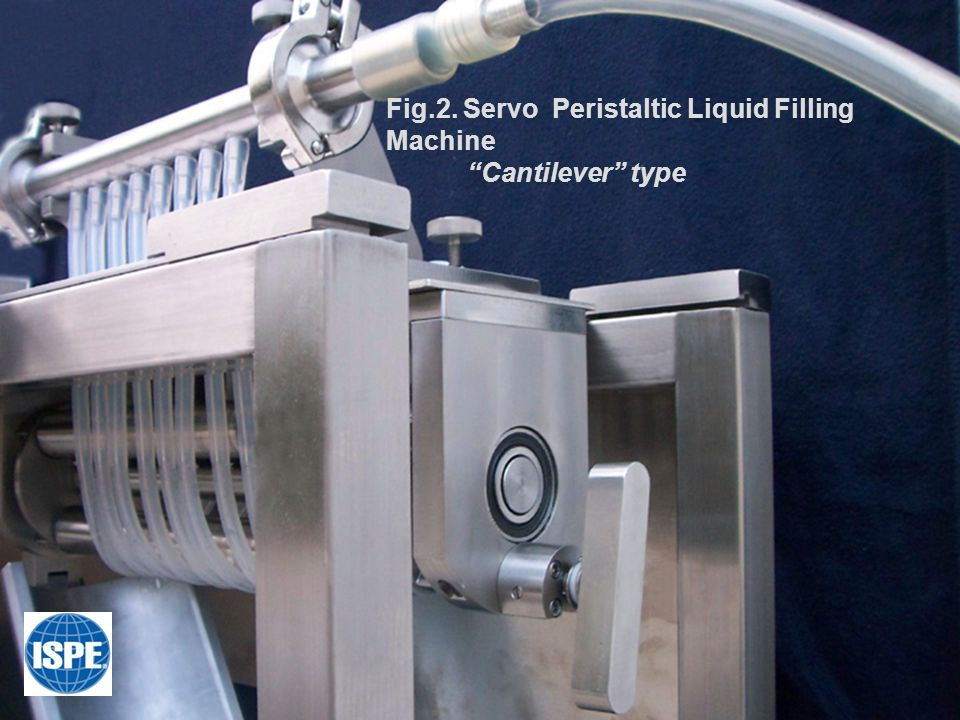 "Fig.2. Servo Peristaltic Liquid Filling Machine ""Cantilever"" type"