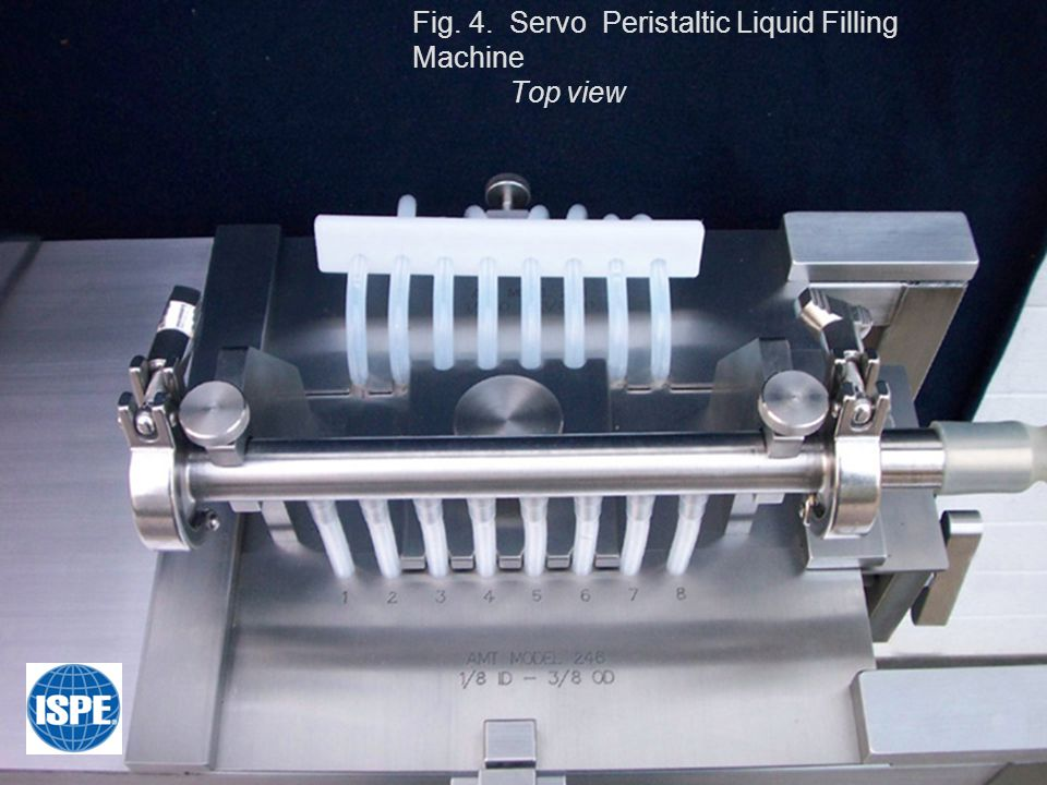 Fig. 4. Servo Peristaltic Liquid Filling Machine Top view