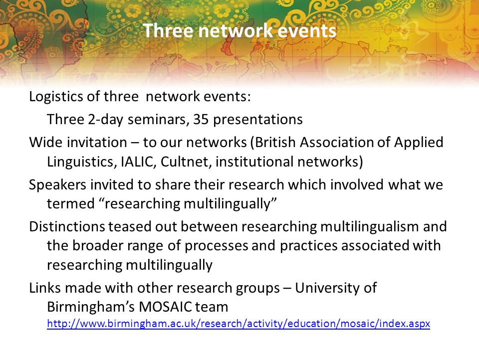 RQ1: What are the possibilities and complexities of researching multilingually.