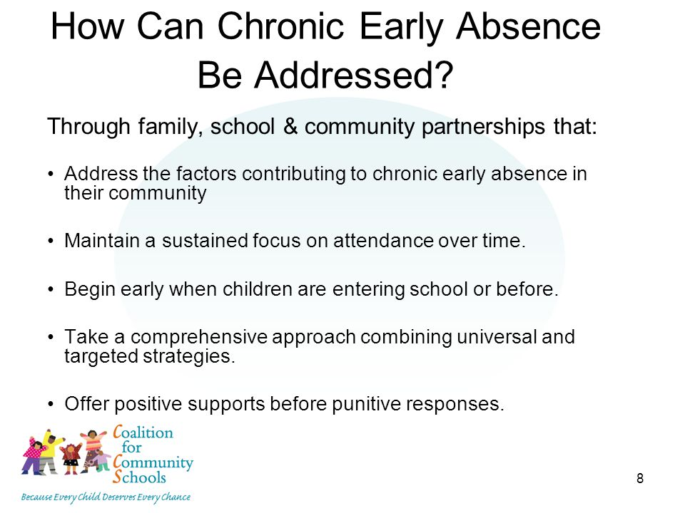 8 How Can Chronic Early Absence Be Addressed.