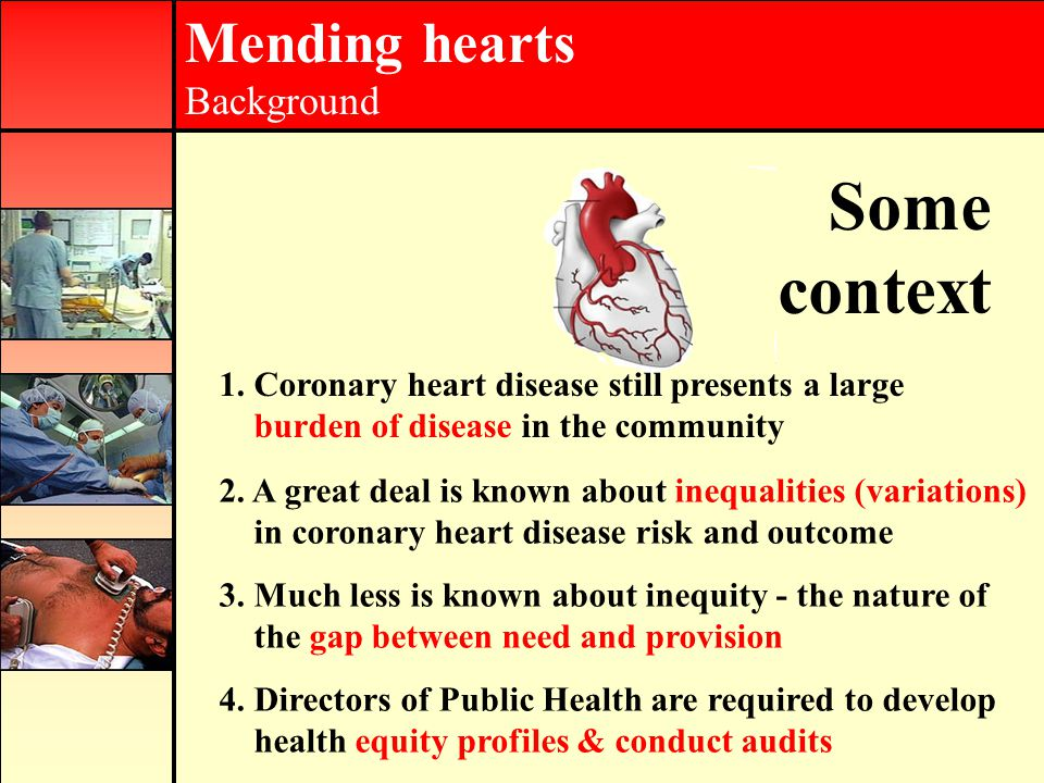 Mending hearts Background Some context 1.