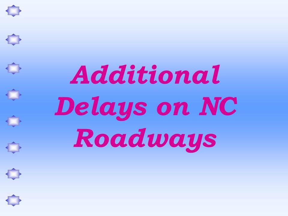 Additional Delays on NC Roadways