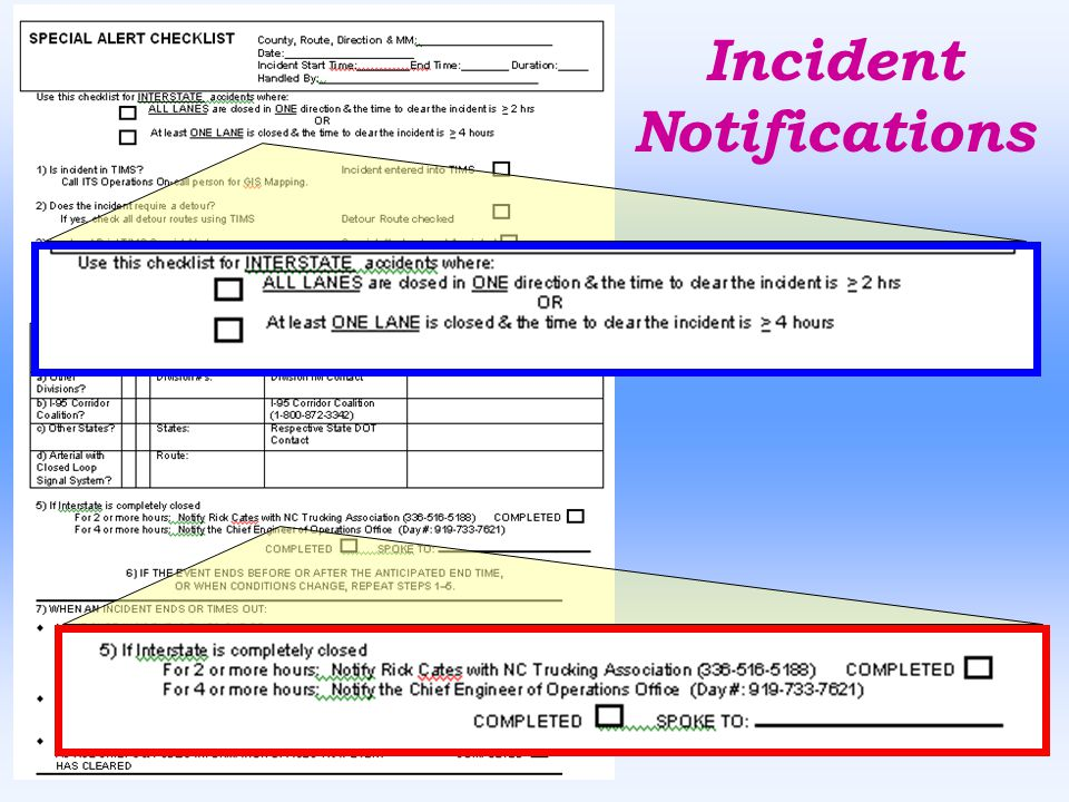 Incident Notifications
