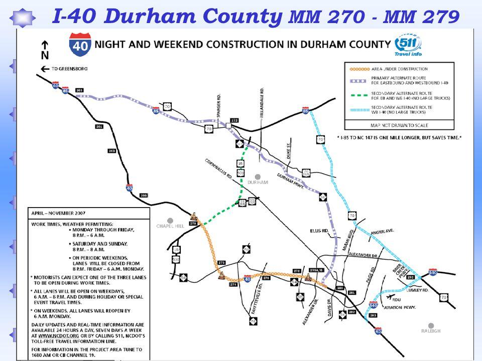 I-40 Durham County MM 270 - MM 279