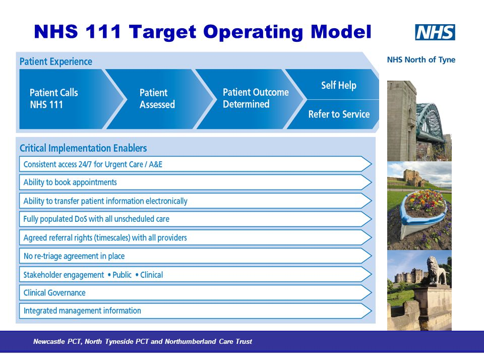 NHS 111 Target Operating Model Newcastle PCT, North Tyneside PCT and Northumberland Care Trust