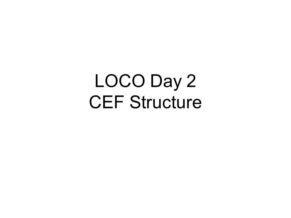 LOCO Day 2 CEF Structure