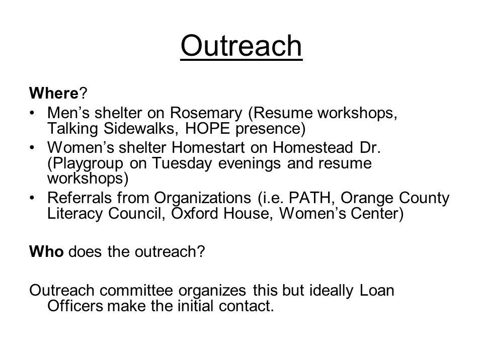 Outreach Where.
