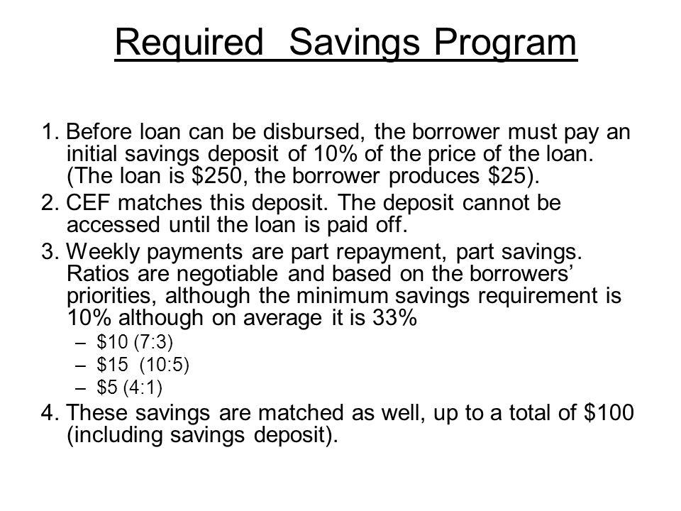 Required Savings Program 1.
