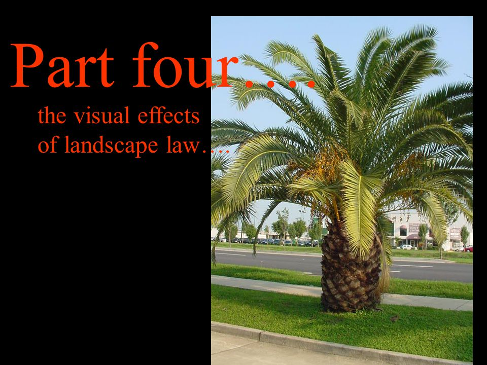 Part four…. the visual effects of landscape law….