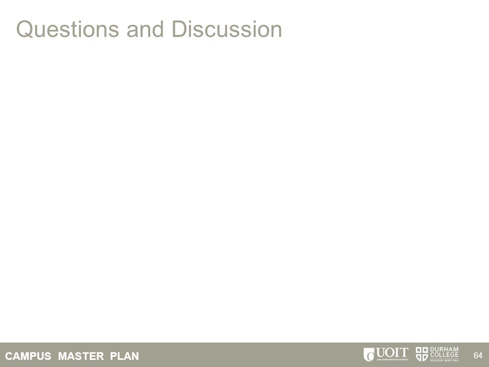 CAMPUS MASTER PLAN 64 Questions and Discussion