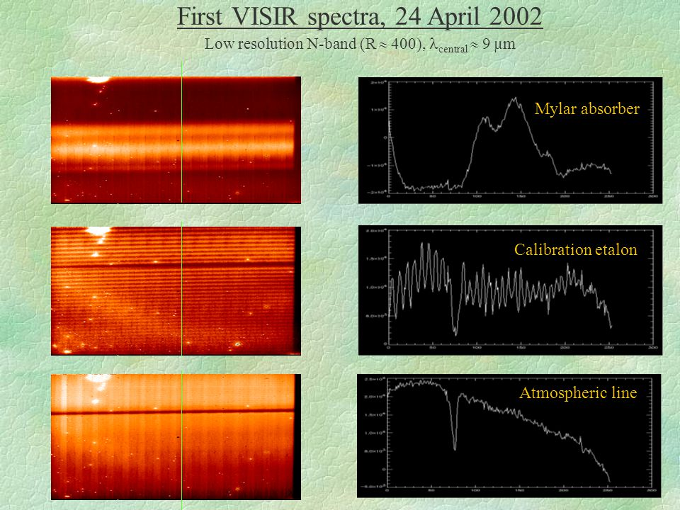 Small FieldIntermediate FieldLarge Field VISIR 1 st light in the Lab (imager mode) CEA-SACLAY, 19 December 2001 Images of the distortion grid