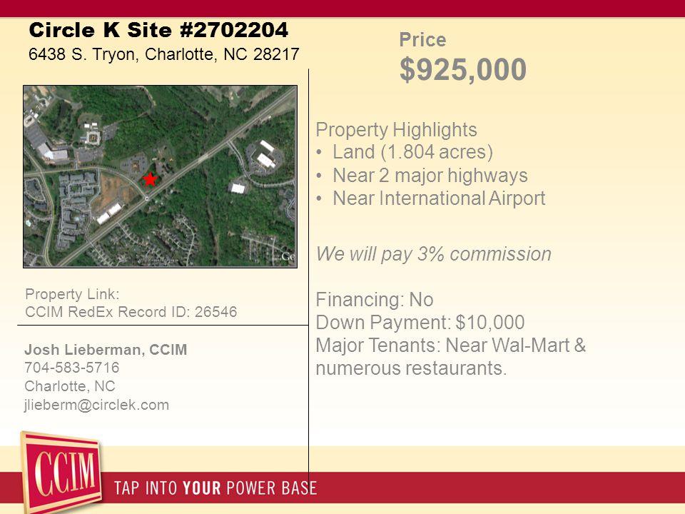 Circle K Site #2702204 6438 S.