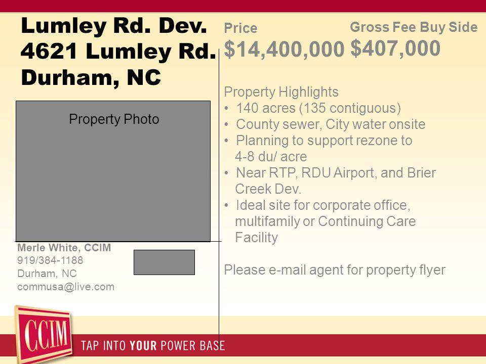 Lumley Rd. Dev. 4621 Lumley Rd.