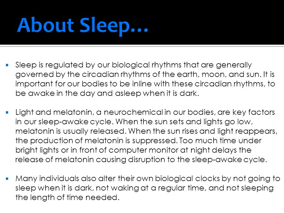  A typical night's sleep happens in roughly 90-minute cycles.