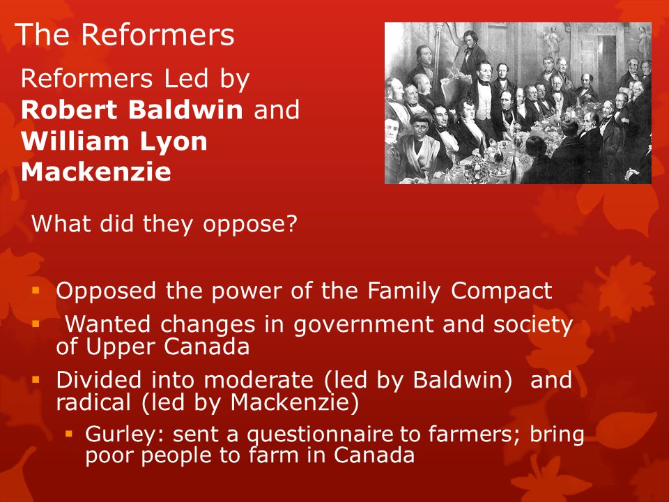 The Reformers What did they oppose.
