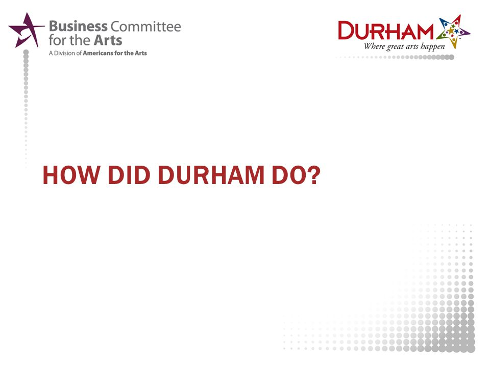 HOW DID DURHAM DO?