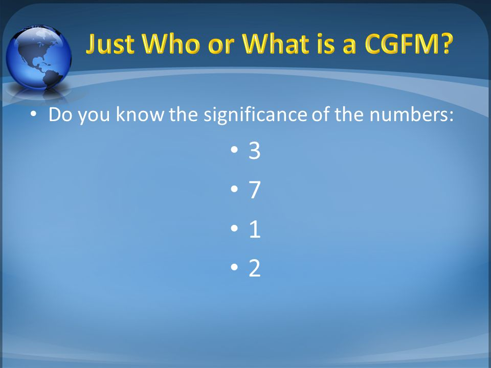 Do you know the significance of the numbers: 3 7 1 2