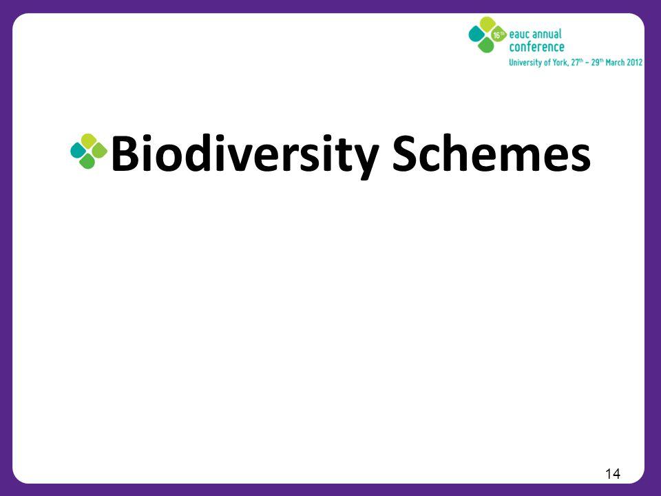 Biodiversity Schemes 14