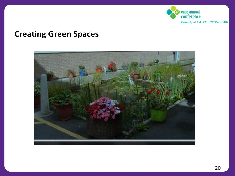 20 Creating Green Spaces