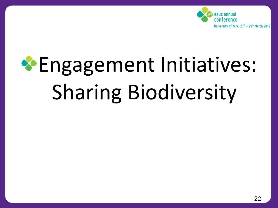 Engagement Initiatives: Sharing Biodiversity 22