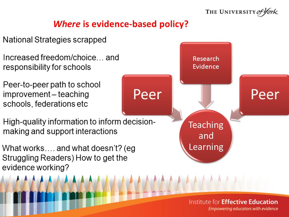 Where is evidence-based policy.