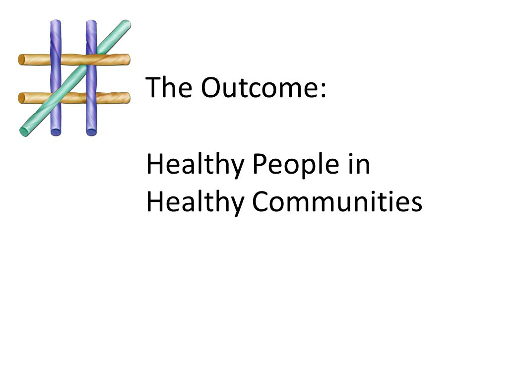 The Outcome: Healthy People in Healthy Communities