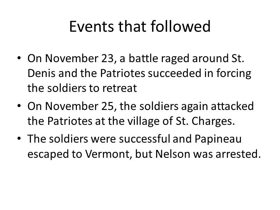 Events that followed On November 23, a battle raged around St.
