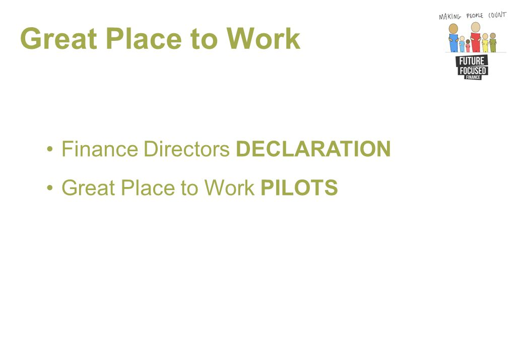 Great Place to Work Finance Directors DECLARATION Great Place to Work PILOTS