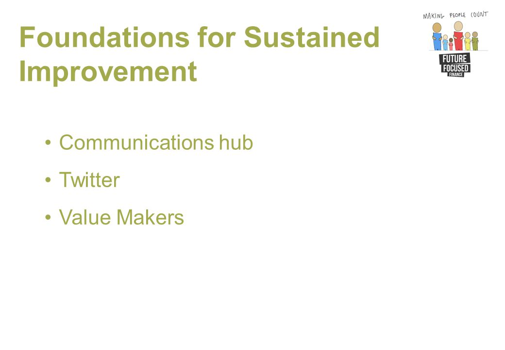 Foundations for Sustained Improvement Communications hub Twitter Value Makers