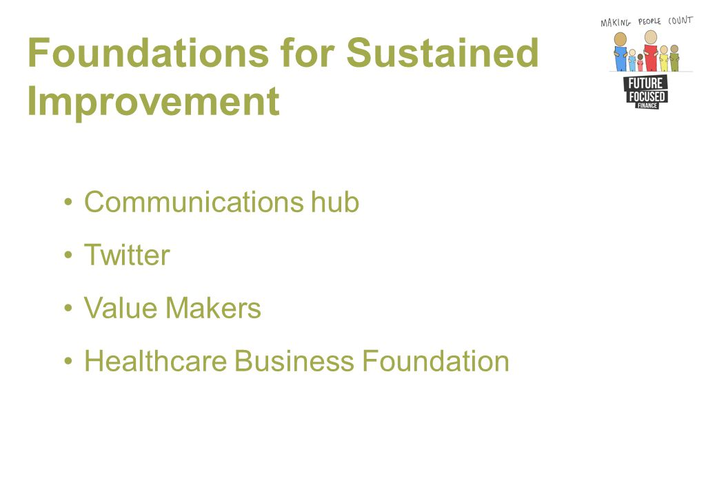 Foundations for Sustained Improvement Communications hub Twitter Value Makers Healthcare Business Foundation