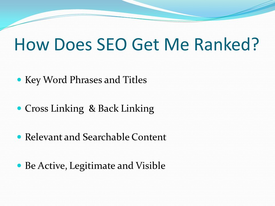 Where Do I Implement SEO.Anywhere you can publish custom content on the web.