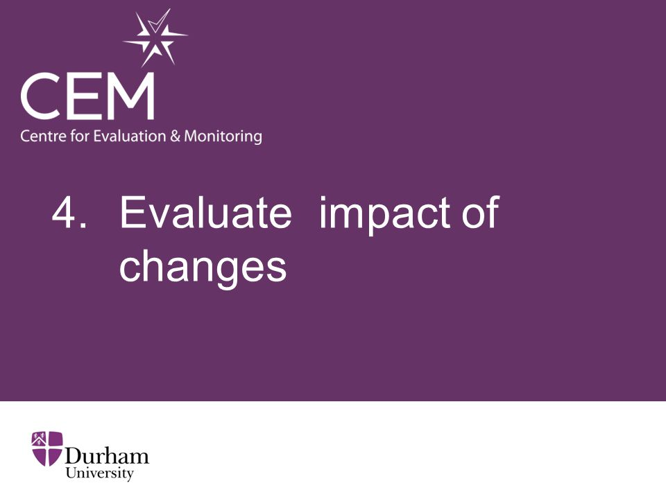 4. Evaluateimpact of changes