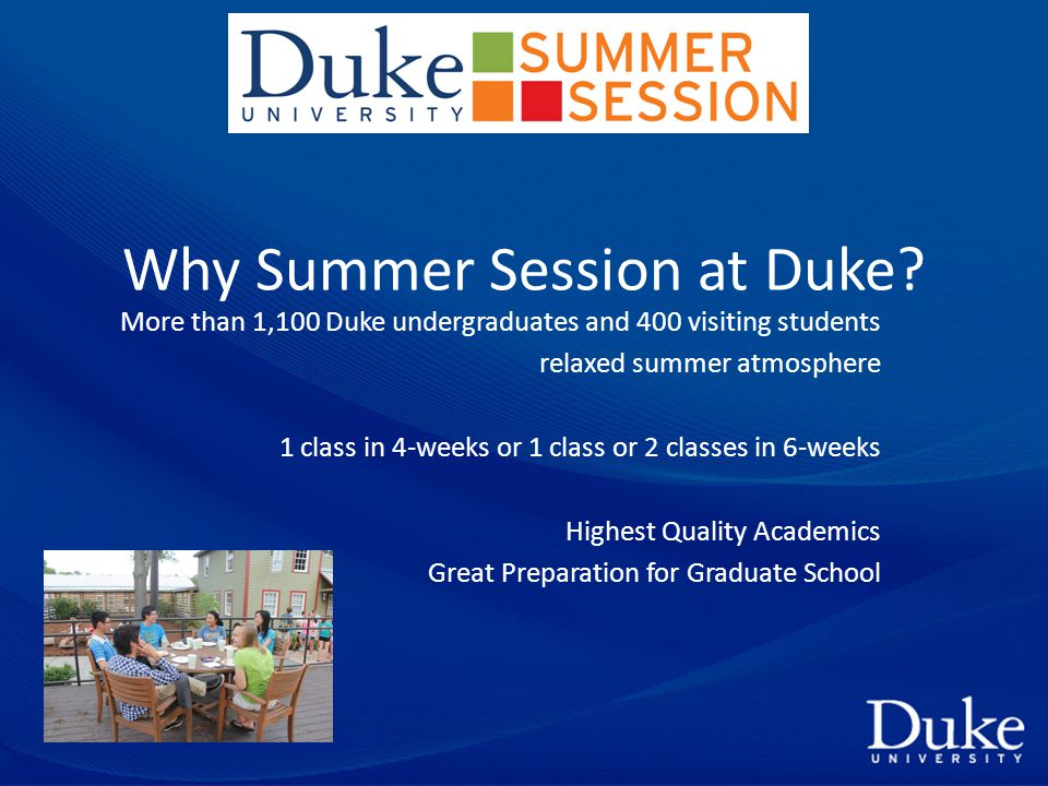 Why Summer Session at Duke.