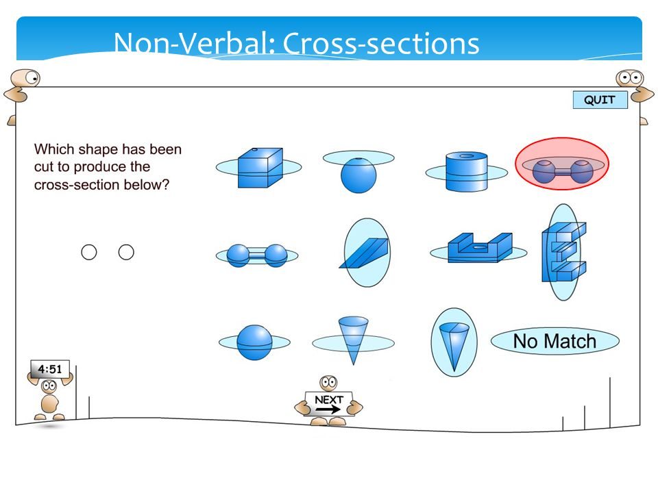 Non-Verbal: Cross-sections