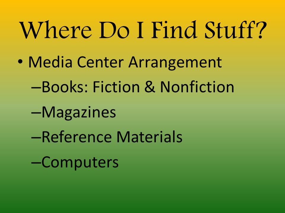What Does the Media Center Offer.