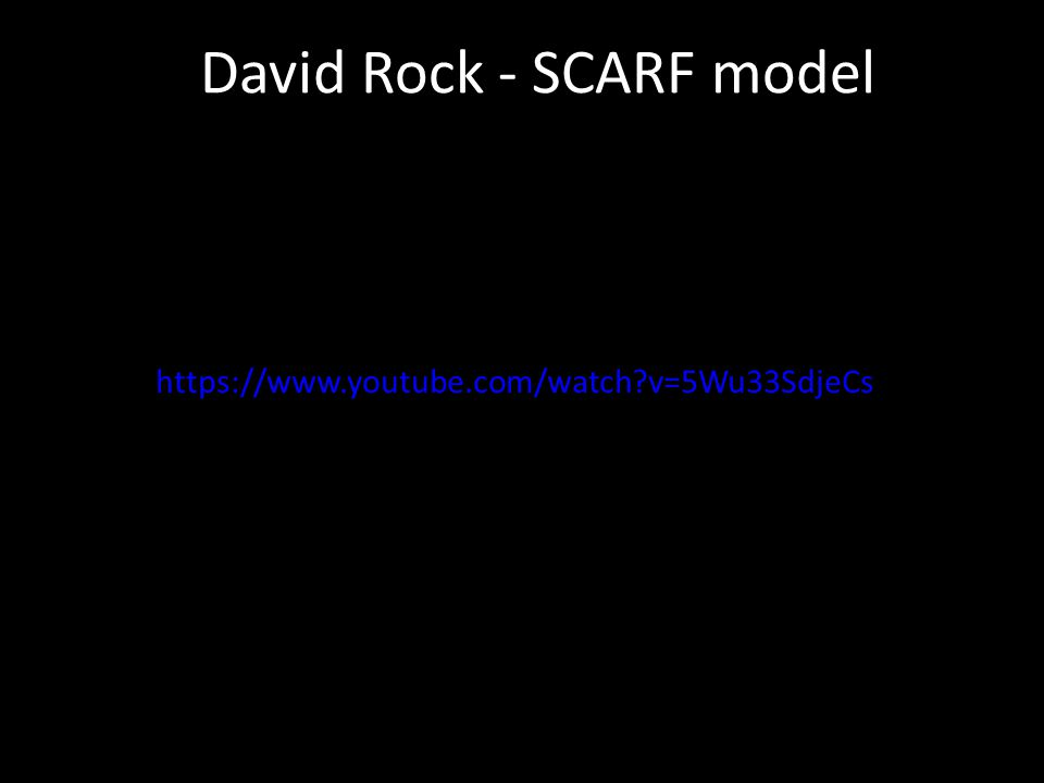 David Rock - SCARF model https://www.youtube.com/watch?v=5Wu33SdjeCs
