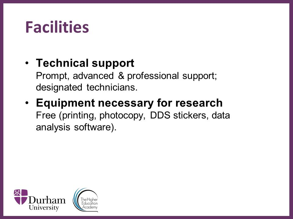 ∂ Facilities Technical support Prompt, advanced & professional support; designated technicians.