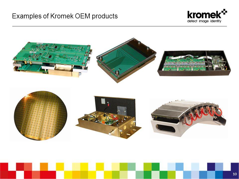 Examples of Kromek OEM products 10