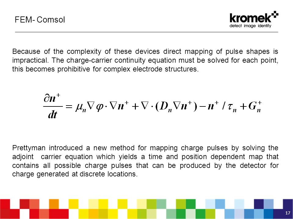 FEM- Comsol 17 Because of the complexity of these devices direct mapping of pulse shapes is impractical.