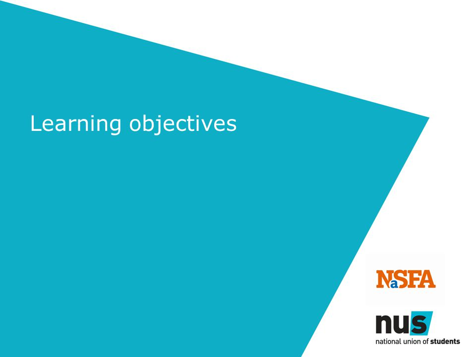 Understand what 'NaSFA' means and how NaSFA can help you Understand how NaSFA & NUS work together Gather different ideas for organising student fundraising Consider a number of important policies and procedures to have in place to support student fundraising