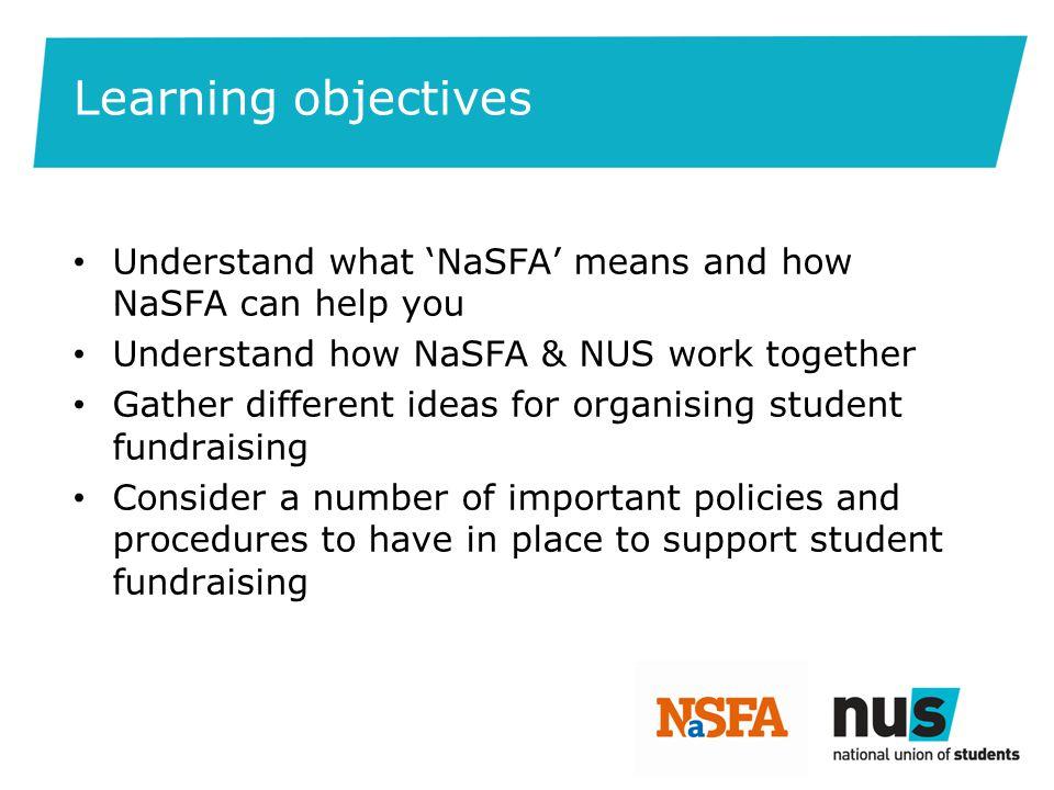 The National Student Fundraising Association (NaSFA)