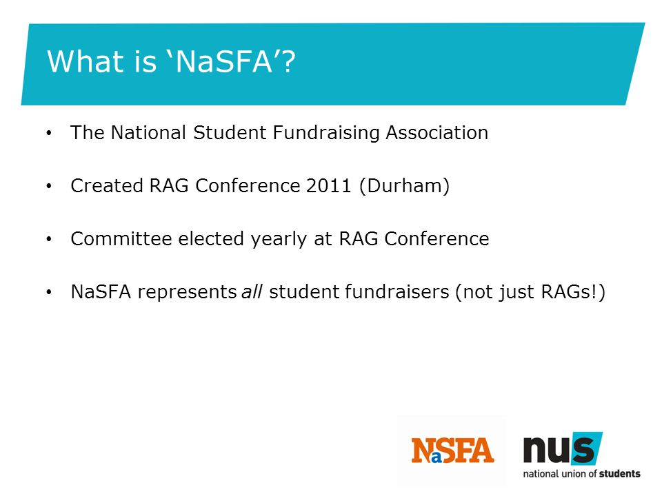 NaSFA & NUS NUS support NaSFA but NaSFA are independent NUS offer contacts, experience