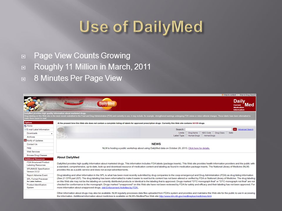  Page View Counts Growing  Roughly 11 Million in March, 2011  8 Minutes Per Page View
