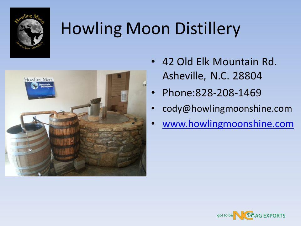 Howling Moon Distillery 42 Old Elk Mountain Rd. Asheville, N.C.