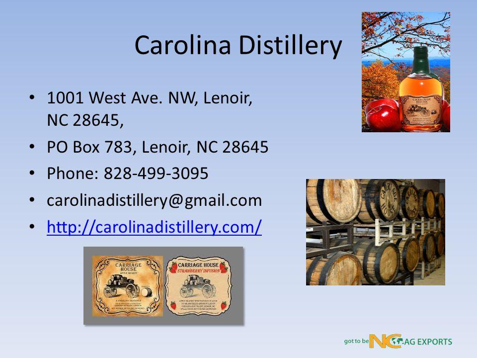 Carolina Distillery 1001 West Ave.