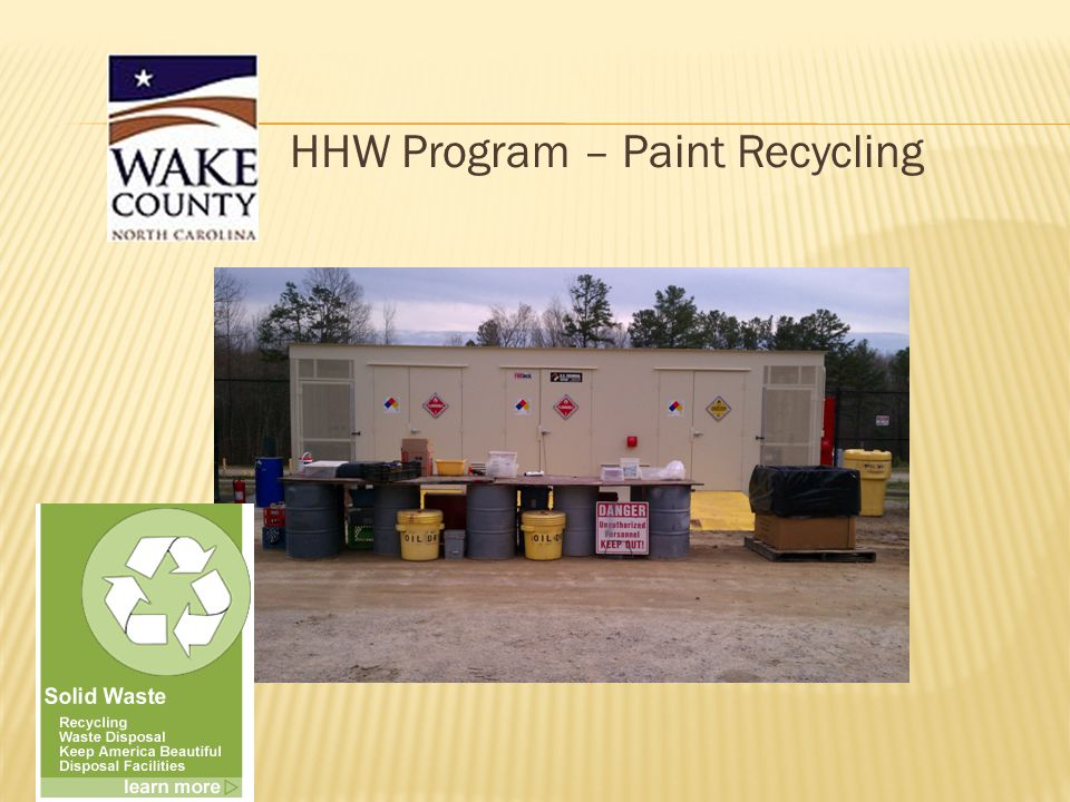 HHW Program – Paint Recycling