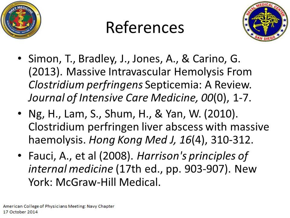 References Simon, T., Bradley, J., Jones, A., & Carino, G.
