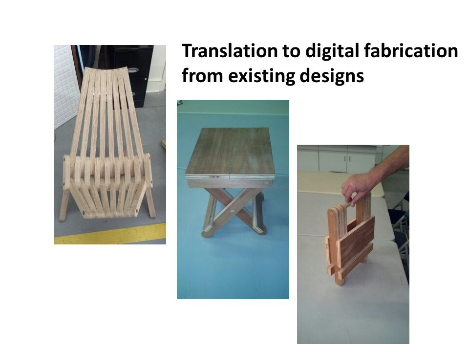 Translation to digital fabrication from existing designs